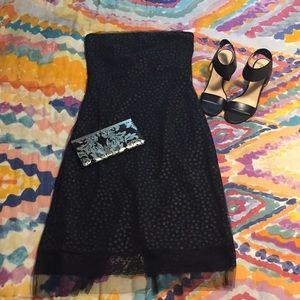 MNG Strapless Shimmer Dress
